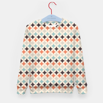 Miniatur Colorful Retro Pattern 4 Kindersweatshirt, Live Heroes