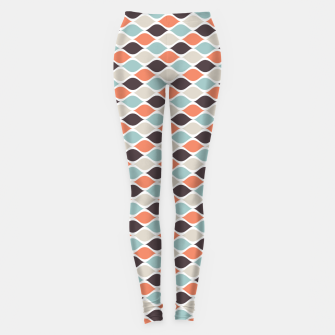 Miniatur Colorful Retro Pattern 5 Leggings, Live Heroes