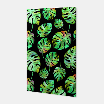 Miniatur Tropical leaves Canvas, Live Heroes