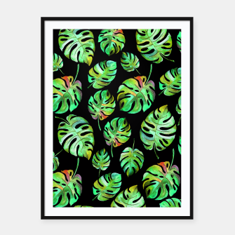 Miniatur Tropical leaves Framed poster, Live Heroes