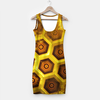 Miniatur Gold Honeycombs Simple Dress, Live Heroes