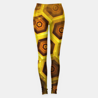 Miniatur Gold Honeycombs Leggings, Live Heroes