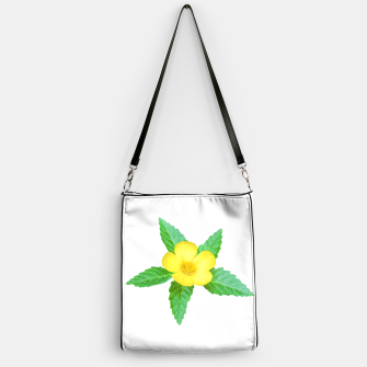 Thumbnail image of Cute Yellow Flower with Leaves Photo Handbag, Live Heroes