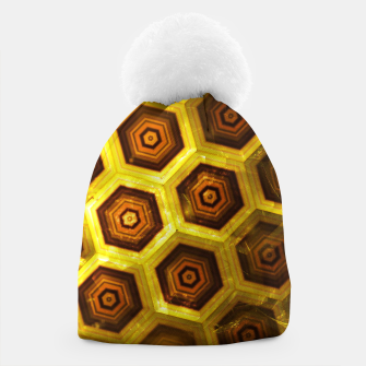 Miniatur Gold Honeycombs Beanie, Live Heroes