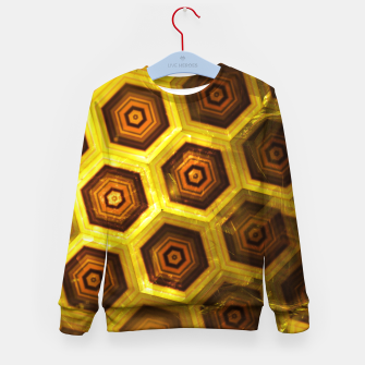 Miniatur Gold Honeycombs Kid's Sweater, Live Heroes