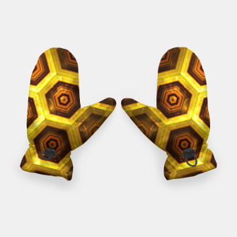 Miniatur Gold Honeycombs Gloves, Live Heroes