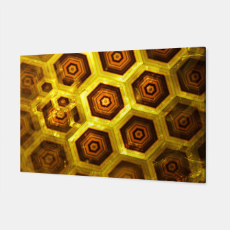 Miniatur Gold Honeycombs Canvas, Live Heroes