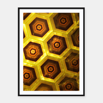 Miniatur Gold Honeycombs Framed poster, Live Heroes