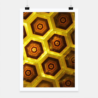 Thumbnail image of Gold Honeycombs Poster, Live Heroes
