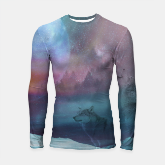 Thumbnail image of Howling at the moon Longsleeve Rashguard , Live Heroes