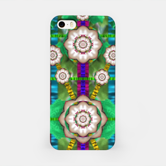 Miniatur pearl flowers in the glowing forest iPhone Case, Live Heroes
