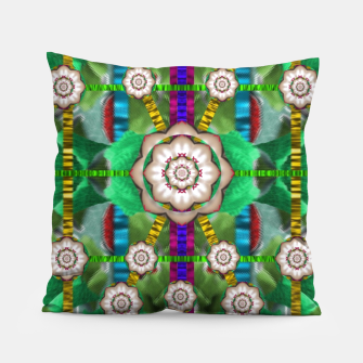 Miniatur pearl flowers in the glowing forest Pillow, Live Heroes