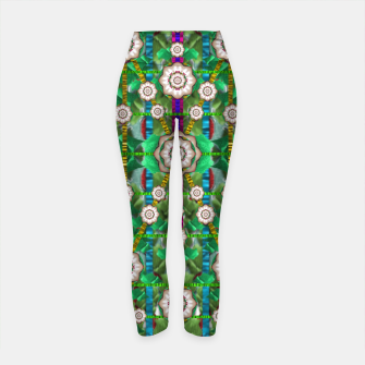 Miniatur pearl flowers in the glowing forest Yoga Pants, Live Heroes