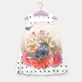 Miniatur ANIMAL PYRAMID Girl's Summer Dress, Live Heroes
