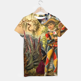Thumbnail image of THE FOOL TAROT CARD T-shirt, Live Heroes