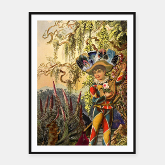 Thumbnail image of THE FOOL TAROT CARD Framed poster, Live Heroes
