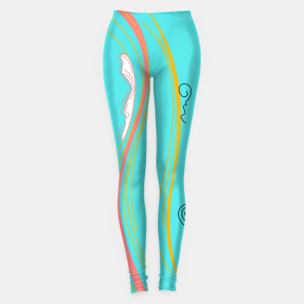 Miniatur Stylish Designers leggings : MARE COLLECTION Cyan, Live Heroes