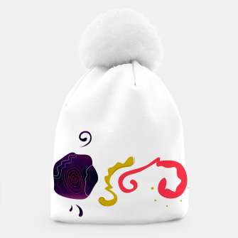 Thumbnail image of DESIGNERS BEANIE WITH ORIGINAL ART, Live Heroes