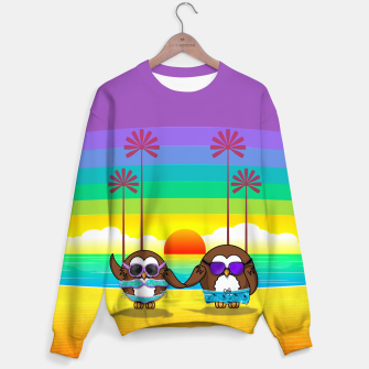 Miniaturka owls are back to vacation Sweater, Live Heroes