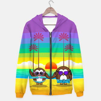 Miniaturka owls are back to vacation Hoodie, Live Heroes