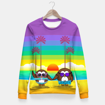 Miniaturka owls are back to vacation Fitted Waist Sweater, Live Heroes