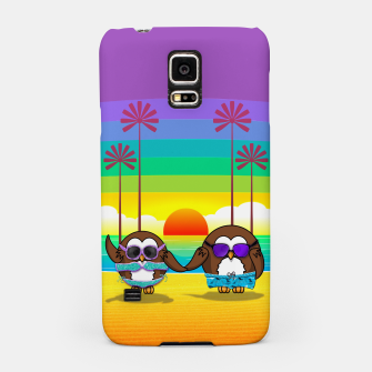 Miniaturka owls are back to vacation Samsung Case, Live Heroes