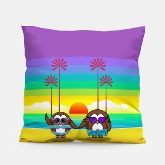 Miniaturka owls are back to vacation Pillow, Live Heroes
