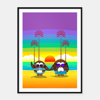 Miniaturka owls are back to vacation Framed poster, Live Heroes