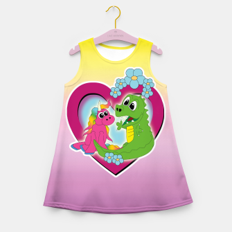 Miniatur very best friends Girl's Summer Dress, Live Heroes