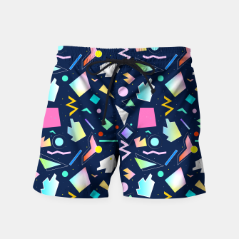 Miniatur Funny Colorful Pattern Badeshorts, Live Heroes