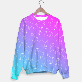 Vaporwave Pug Sweater miniature