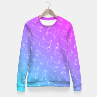 Vaporwave Pug Fitted Waist Sweater miniature
