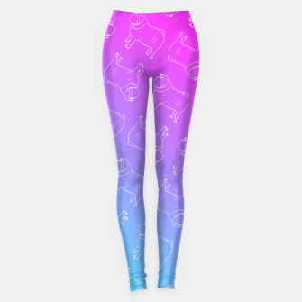 Vaporwave Pug Leggings miniature