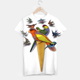 Thumbnail image of BIRDS ICE CREAM  T-shirt, Live Heroes