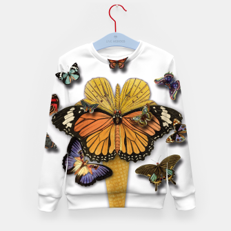 Thumbnail image of BUTTERFLIES ICE CREAM  Kid's Sweater, Live Heroes