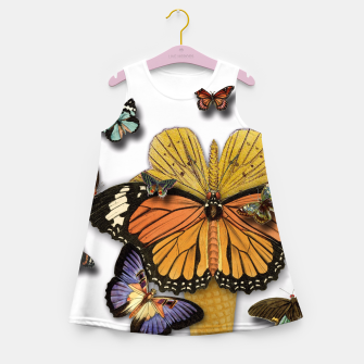 Thumbnail image of BUTTERFLIES ICE CREAM  Girl's Summer Dress, Live Heroes