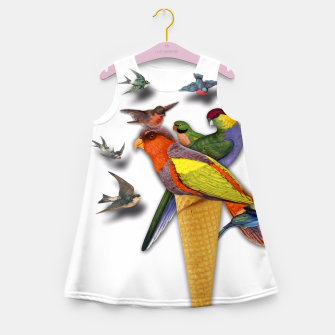 Thumbnail image of BIRDS ICE CREAM  Girl's Summer Dress, Live Heroes