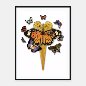 Thumbnail image of BUTTERFLIES ICE CREAM  Framed poster, Live Heroes
