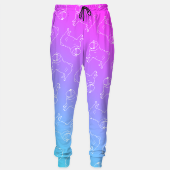 Vaporwave Pug Sweatpants miniature