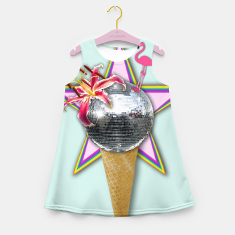 Thumbnail image of DISCO ICE CREAM Girl's Summer Dress, Live Heroes