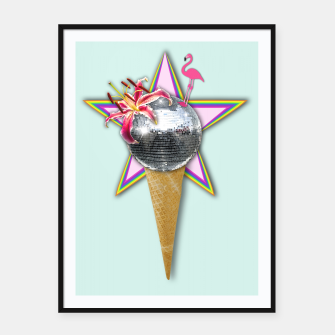 Thumbnail image of DISCO ICE CREAM Framed poster, Live Heroes