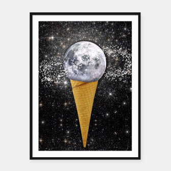 Thumbnail image of MOON ICE CREAM Framed poster, Live Heroes