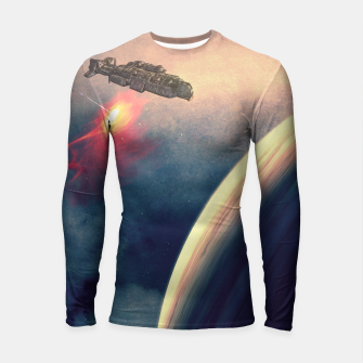 Thumbnail image of Excursion through time Longsleeve Rashguard , Live Heroes