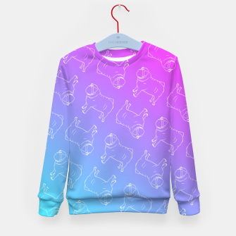 Vaporwave Pug Kid's Sweater miniature