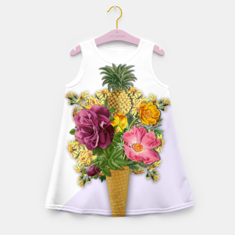 Thumbnail image of PINNEAPLE ICE CREAM  Girl's Summer Dress, Live Heroes