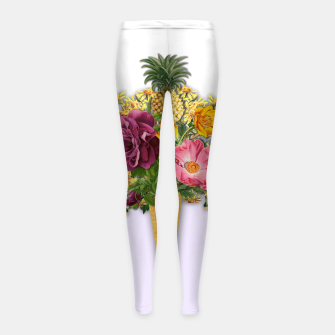 Thumbnail image of PINNEAPLE ICE CREAM  Girl's Leggings, Live Heroes