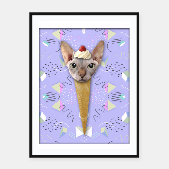 Thumbnail image of SPHYNX ICE CREAM Framed poster, Live Heroes