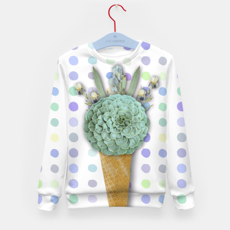 Thumbnail image of SUCCULENT ICE CREAM Kid's Sweater, Live Heroes