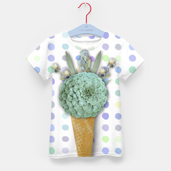 Thumbnail image of SUCCULENT ICE CREAM Kid's T-shirt, Live Heroes