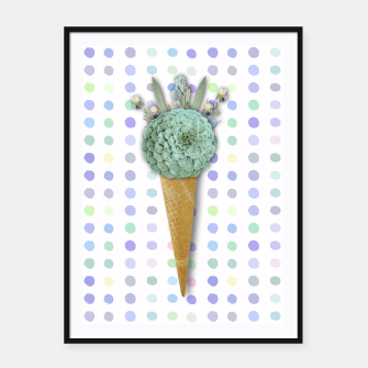 Thumbnail image of SUCCULENT ICE CREAM Framed poster, Live Heroes